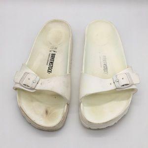Birkenstock White Foam Slip On Sandals One Strap